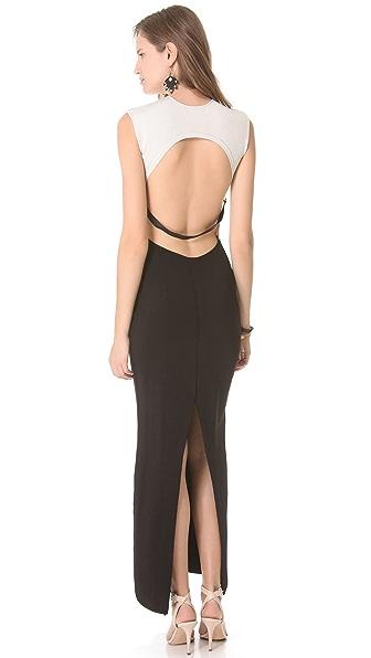 Osklen Colorblock Long Fitted Dress