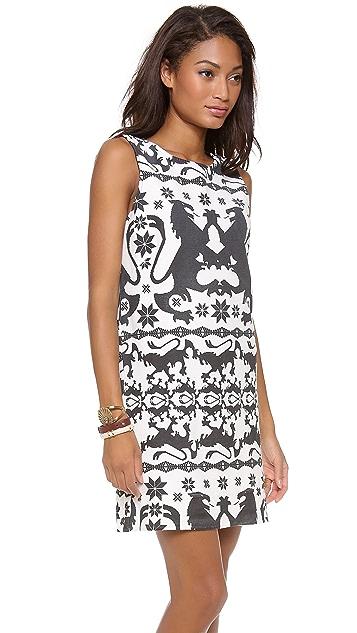 Osklen Fringe Bicolor Dress