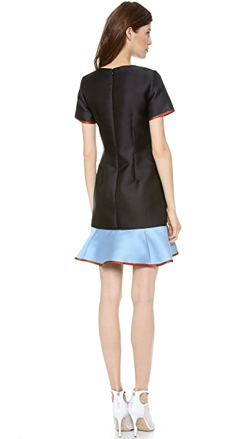 Ostwald Helgason Drop Waist Short Sleeve Dress