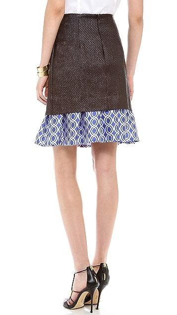 Ostwald Helgason Raffia Layered Skirt