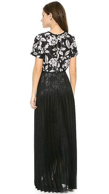 Ostwald Helgason Sheer Pleated Maxi Dress