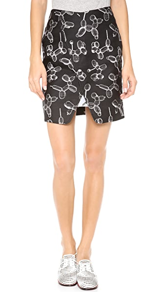 Ostwald Helgason Poodle Print Skirt