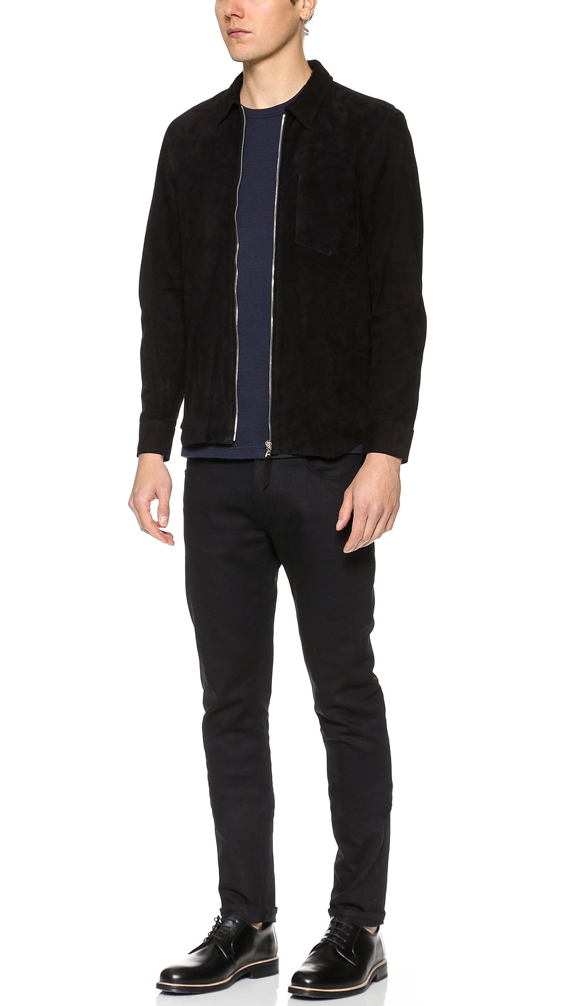 cd83c756b0d0 Our Legacy Suede Zip Shirt Jacket
