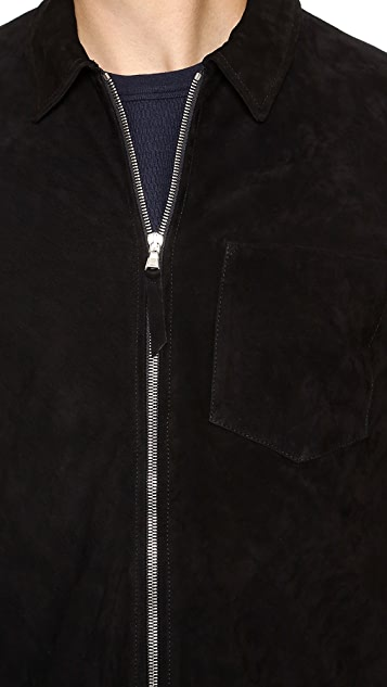 Our Legacy Suede Zip Shirt Jacket