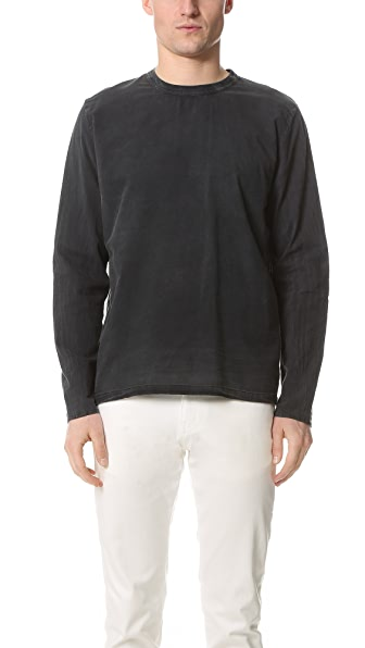 Our Legacy Pigment Cotton Voile Long Sleeve Tee