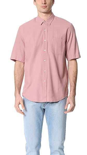 Our Legacy Short Sleeve Classic Silk Shirt