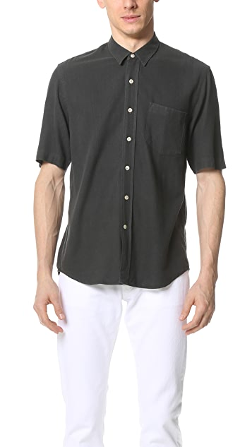 Our Legacy Short Sleeve Classic Silk Shirt