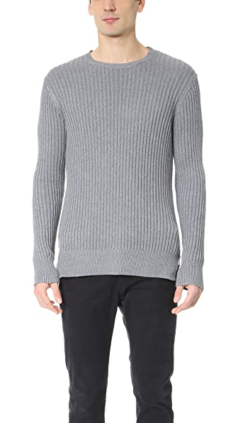 Ovadia & Sons Side Zip Crew Neck Sweater