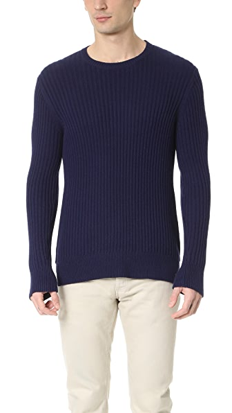 Ovadia & Sons Side Zip Crew Sweater