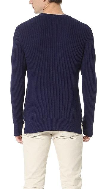 Ovadia & Sons Side Zip Crew Sweater