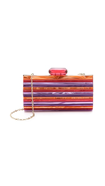 Overture Judith Leiber Monica Striped Resin Clutch