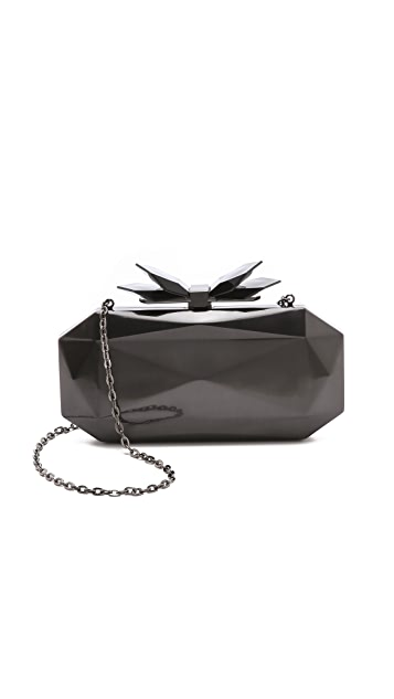 Overture Judith Leiber Samantha Faceted Metal Clutch