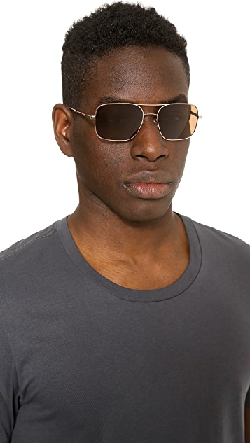 Oliver Peoples West De Oro Gold Sunglasses