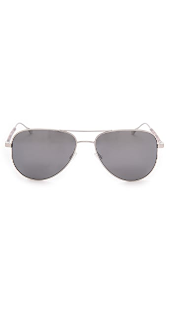 Oliver Peoples West Piedra Silver Sunglasses