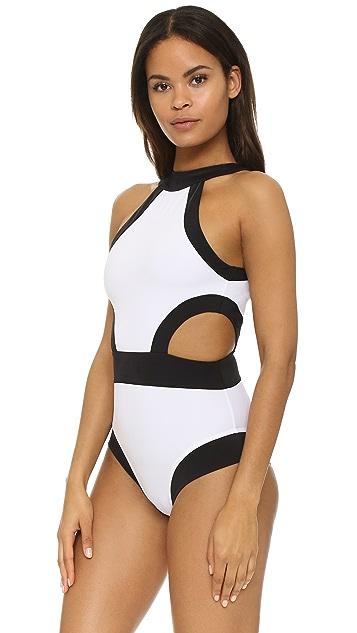 OYE Swimwear Holly High Neck Cutout One Piece