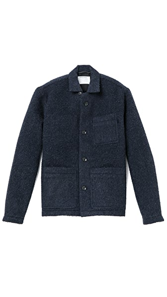 Patrik Ervell Boiled Wool Shirt Jacket