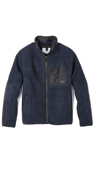 Patrik Ervell Fleece Jacket in Boiled Wool | EAST DANE