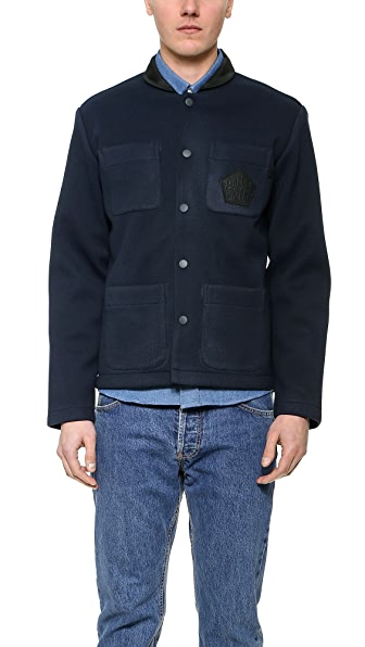 Patrik Ervell Bonded Knit Officer Jacket