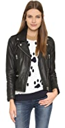 Paul & Joe Sister Cabriolet Leather Moto Jacket