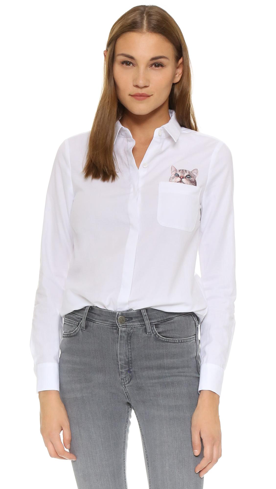 Paul & Joe Sister Chaperche Button Down Shirt - White