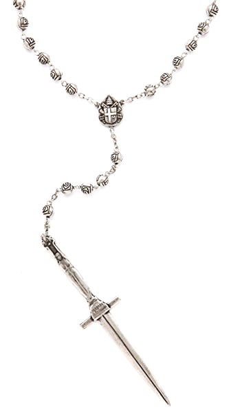 Pamela Love Dagger Rosary Necklace