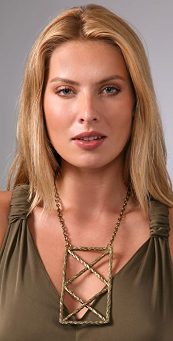 Pamela Love Rope Triangle Plate Necklace