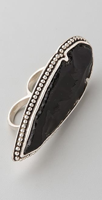 Pamela Love Arrowhead Double Ring