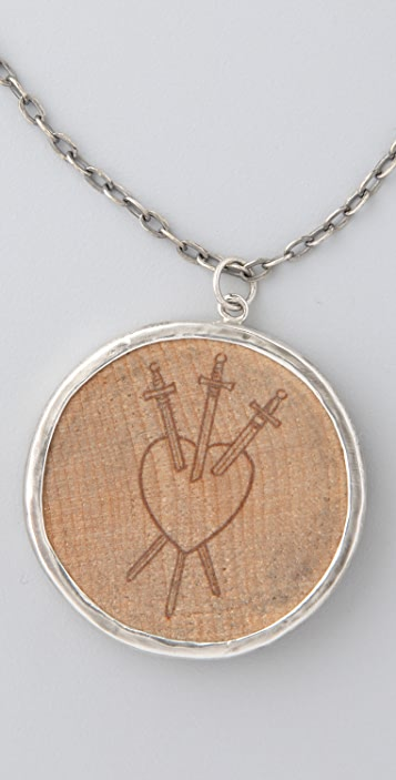 Pamela Love Wooden Nickel Pendant Necklace