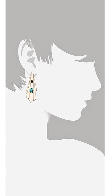 Pamela Love Keyhole Earrings
