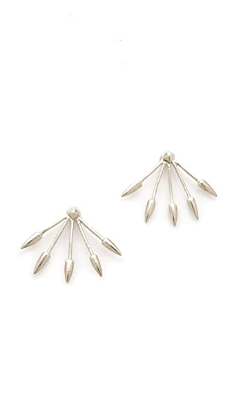 Pamela Love Sterling Silver Five Spike Stud Earrings