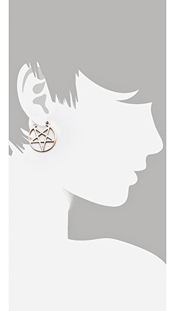 Pamela Love Mini Pentagram Earrings