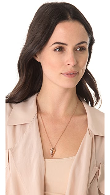 Pamela Love Mini Arrowhead Pendant Necklace
