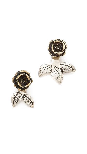 Pamela Love Rose Earrings