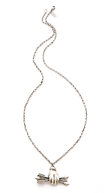 Pamela Love Small Arrows Pendant Necklace
