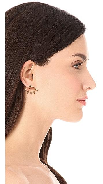 Pamela Love Five Spike Stud Earrings