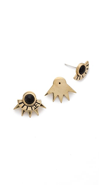 Pamela Love Sun Ray Stud Earrings