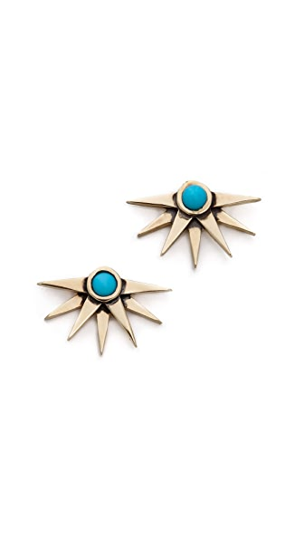 Pamela Love Sunburst Earrings