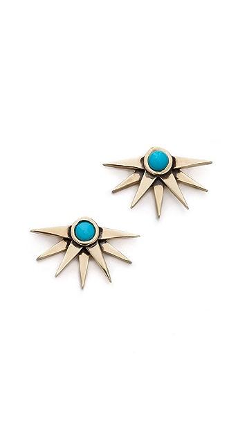 Pamela Love Sunburst Earrings