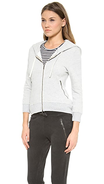 Pam & Gela High Low Zip Hoodie