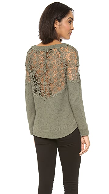 Pam & Gela Sweatshirt with Lace