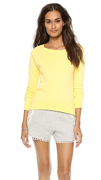 Pam & Gela High Low Twisted Neck Sweatshirt