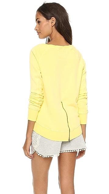 Pam & Gela High Low Twisted Neck Sweatshirt