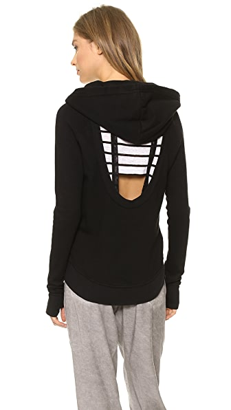 Pam & Gela High Low Cutout Hoodie