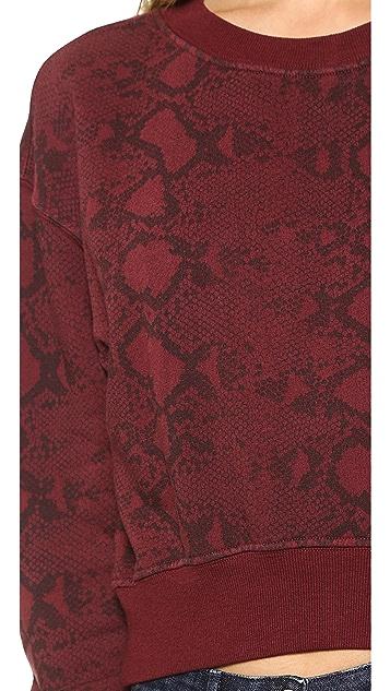 Pam & Gela Crop Long Sleeve Sweatshirt