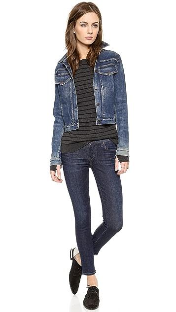 Pam & Gela Twist Back Stripe Sweater