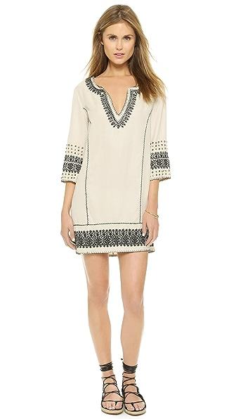 Kupi Pam & Gela online i prodaja Pam & Gela Embroidered Tunic Dress Ecru haljinu online