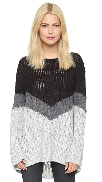 Pam & Gela Slouchy Chevron Sweater