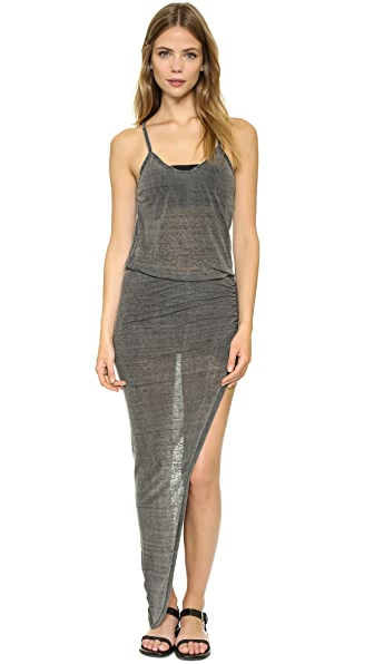 Pam & Gela Wrap Rouched Dress - Charcoal