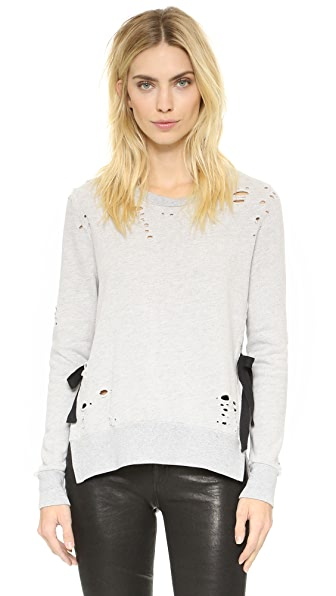 Pam & Gela Side Slit Destroyed Sweatshirt