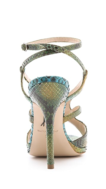 Paul Andrew Butterfly Ankle Strap Sandals